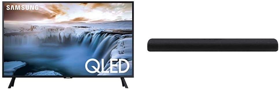"Samsung Flat 32"" QLED 4K 32Q50 Series Smart TV with Samsung HW-S60T 4.0ch All-in-One Soundbar (2020)"