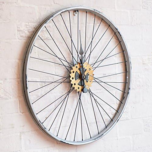 1Pueblo americano retro vieja bicicleta hub creativo reloj de pared/Tienda decoración mural decoración mural,60cm: Amazon.es: Hogar
