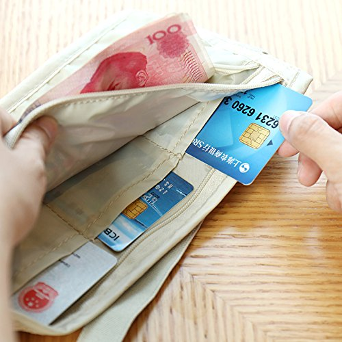 Travel Money Belt RFID Blocking Hidden Travel Wallet Passort Holder for Travel and Daily Use