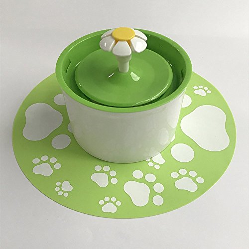 pettime Pet water fountain Dog Cat Automatic Electric Water Pump Drinking Bowl(Little Flower) (Green) For Sale