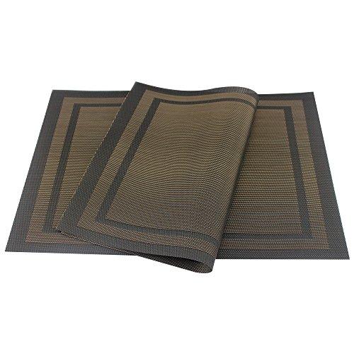 Placemats heat resistant placemats pvc placemats woven vinyl placemats stain resistant anti - Heat resistant table cloth ...