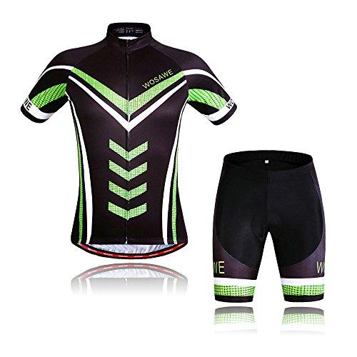 Wolfbike Men's Cycling Jersey Shorts Suit, Hulk X-Large