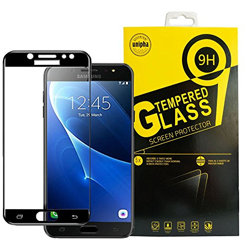 Galaxy J5 2017 Screen Protector, Samsung J5 Pro Screen Protector, 3D Full Coverage Tempered Glass Film [Anti-finger Print Anti-Scratch Hardness Tempered Glass for Galaxy J5 J5 Pro J530 2017