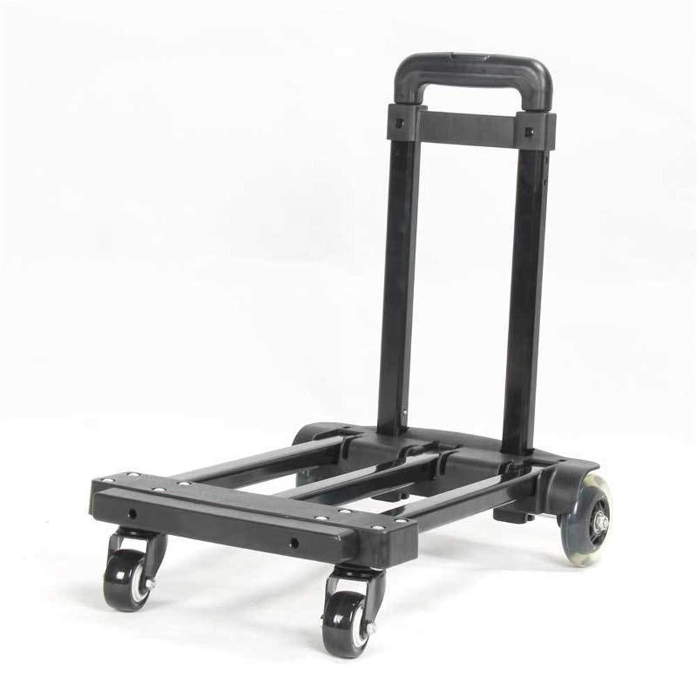 TAESOUW-Luggage Four-Wheel Folding Hand Cart Universal Wheel Portable Trolley Car Shopping Trailer (Load: 60kg) by TAESOUW-Luggage
