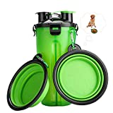RIZON Dog Cat Pet Water Bottle with 2 Collapsible