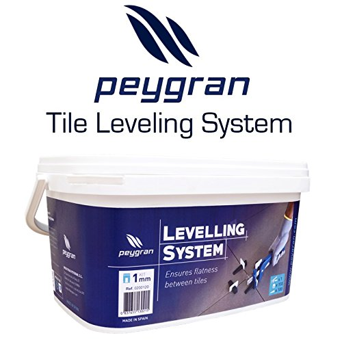 """cheap Peygran Tile Leveling System Kit: PLIERS/TOOL+100 CLIPS/SPACERS+100WEDGES Superior quality, European product for lippage free tile and stone installation FOR PROs&DIYs (1/8"""" (3mm))"""