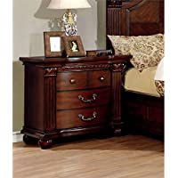 Furniture of America Sorella 3 Drawer Nightstand in Cherry