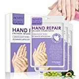 Hand Peel Mask 3 Pack, Hand Mask Spa Gloves Moisture Enhancing Gloves for Dry Hands, Exfoliating Hand Peeling Mask, Repair Rough Skin Remove Dead Skin for Women Men