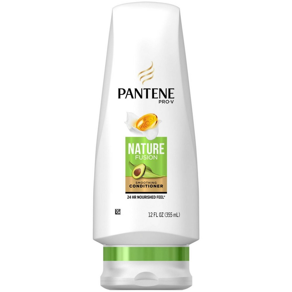 Pantene Nature Fusion Smoothing Conditioner With Avocado Oil, 12 oz (Pack of 3)