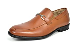 Bruno MARC DP02 Men's Loafers Dress Classic Formal Oxfords Slip On Leather Lining Modern Shoes BROWN SIZE 7