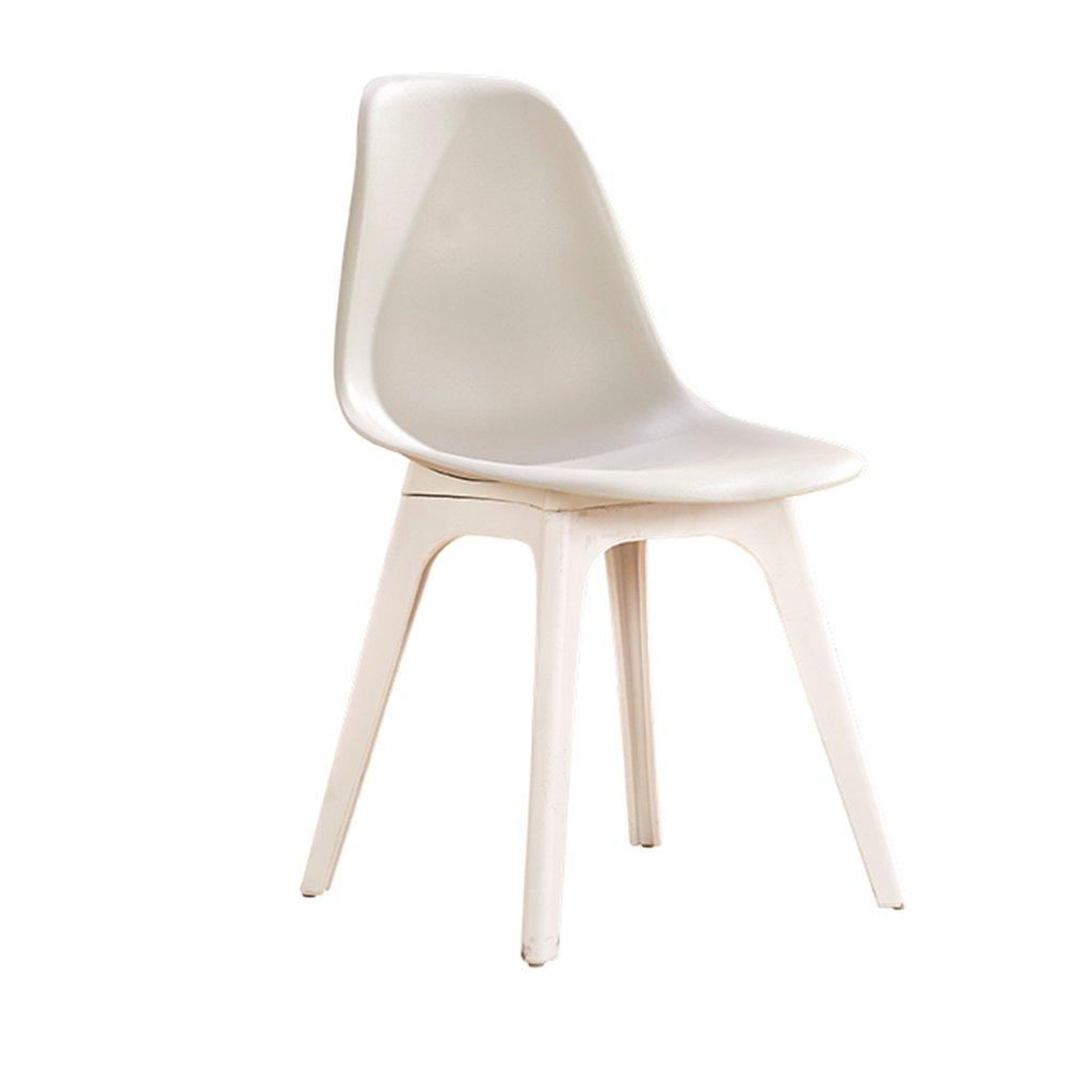 プラスチック屋外椅子防水軽量コンパクトシートスツールリビングルームの寝室の受付現代の家具 (色 : グレー) B07DFWJW6Q グレー グレー