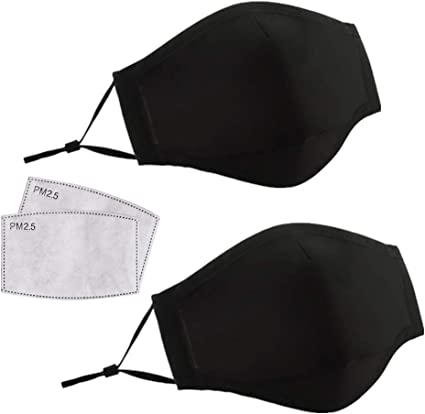 5×Filter Outdoor Half Face Shield Activate Carbon Filter Anti Dust Mouth Cover