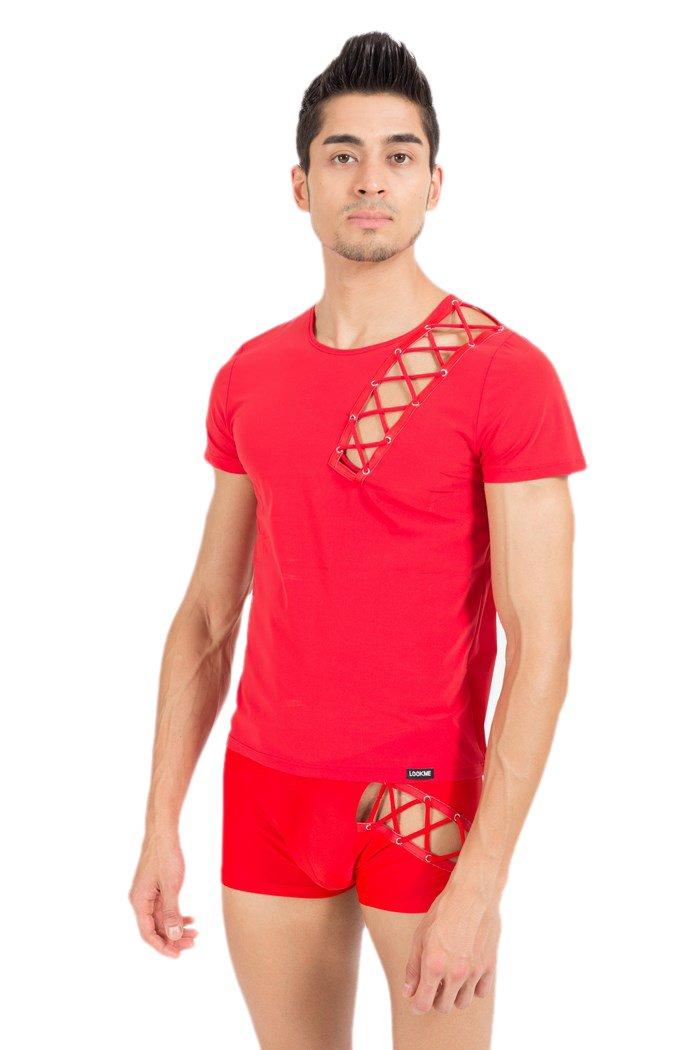 Look Me - T-Shirt Bad Boy - Farbe: weiss - Größe: XL, 1 Stück 1 Stück LM39-81WHT-XL