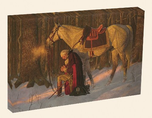 The Prayer At Valley Forge - Arnold Friberg - Canvas Giclee Gallery Wrap Prayer Canvas