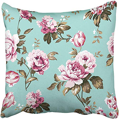 Starodet Throw Pillow Covers Cases Decorative 20x20 Inch Shabby Chic Vintage Roses Tulips and Forget Me Nots Classic Chintz Floral for Two Sides Print Pillowcase Case Cushion Cover