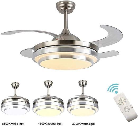 Dp-Light Ventiladores para el Techo con Lámpara, 36W Modern ...