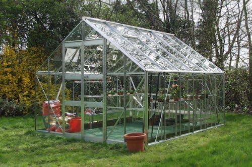 Eden invernaderos studyingstore Eden Monarch salas 609, 6 cm - aluminio invernadero grande: cristal - 6 mm de policarbonato: Amazon.es: Jardín
