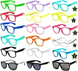 Retro 80's Vintage Clear Lens Sunglasses Many Colors Frame - 18 Pairs OWL