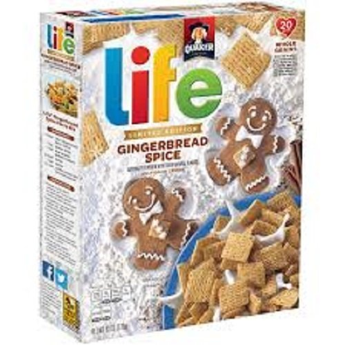 Quaker life gingerbread spice Cereal Limited Edition 2/ 13 ounce boxes ()