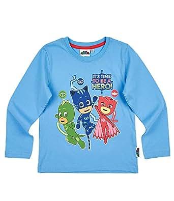PJ MASKS - Camiseta de manga larga - para nio, Azul, 6 aos