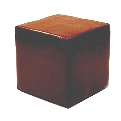 Sensational Footstools2U Cube Seat In Brown Faux Leather Amazon Co Uk Creativecarmelina Interior Chair Design Creativecarmelinacom