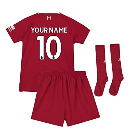 df4779418 Image Unavailable. Image not available for. Color  UKSoccershop 2018-2019  Liverpool Home Little Boys Mini Kit (Your Name)