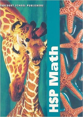 HSP Math, Grade 2: HARCOURT SCHOOL PUBLISHERS: 9780153412608 ...