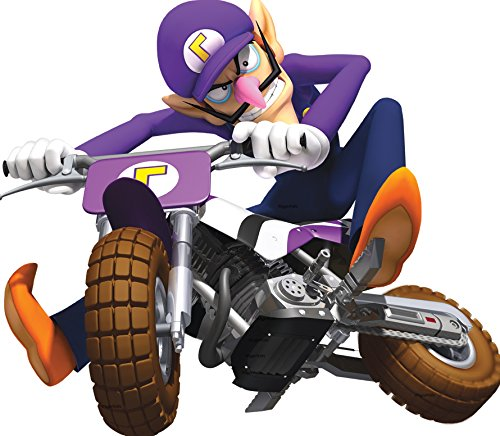 6 Inch Waluigi Motorcycle Cycle Bike Super Mario Kart Wii Bros Brothers Removable Wall Decal Sticker Art Nintendo 64 SNES Home Kids Room Decor Decoration - 6 1/2 by 5 3/4 inches (Mario Kart Wii All Karts And Bikes)