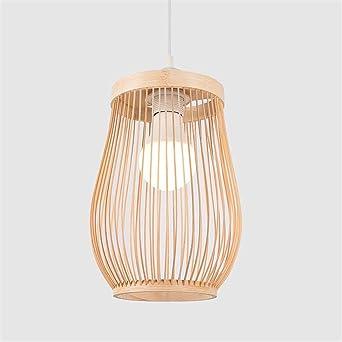 Iluminación Luz De Techo Lámpara Colgante Bambú De Mimbre De ...