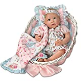 Ashton Drake Lifelike Baby Doll By Linda Murray With Quilt And Basket