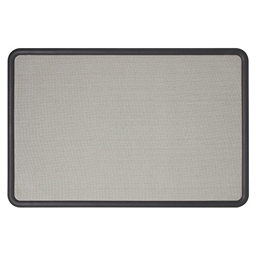 Quartet Contour Gray Fabric Bulletin Boards, 4 x 3 Feet, Gray Plastic Frame (7694G)