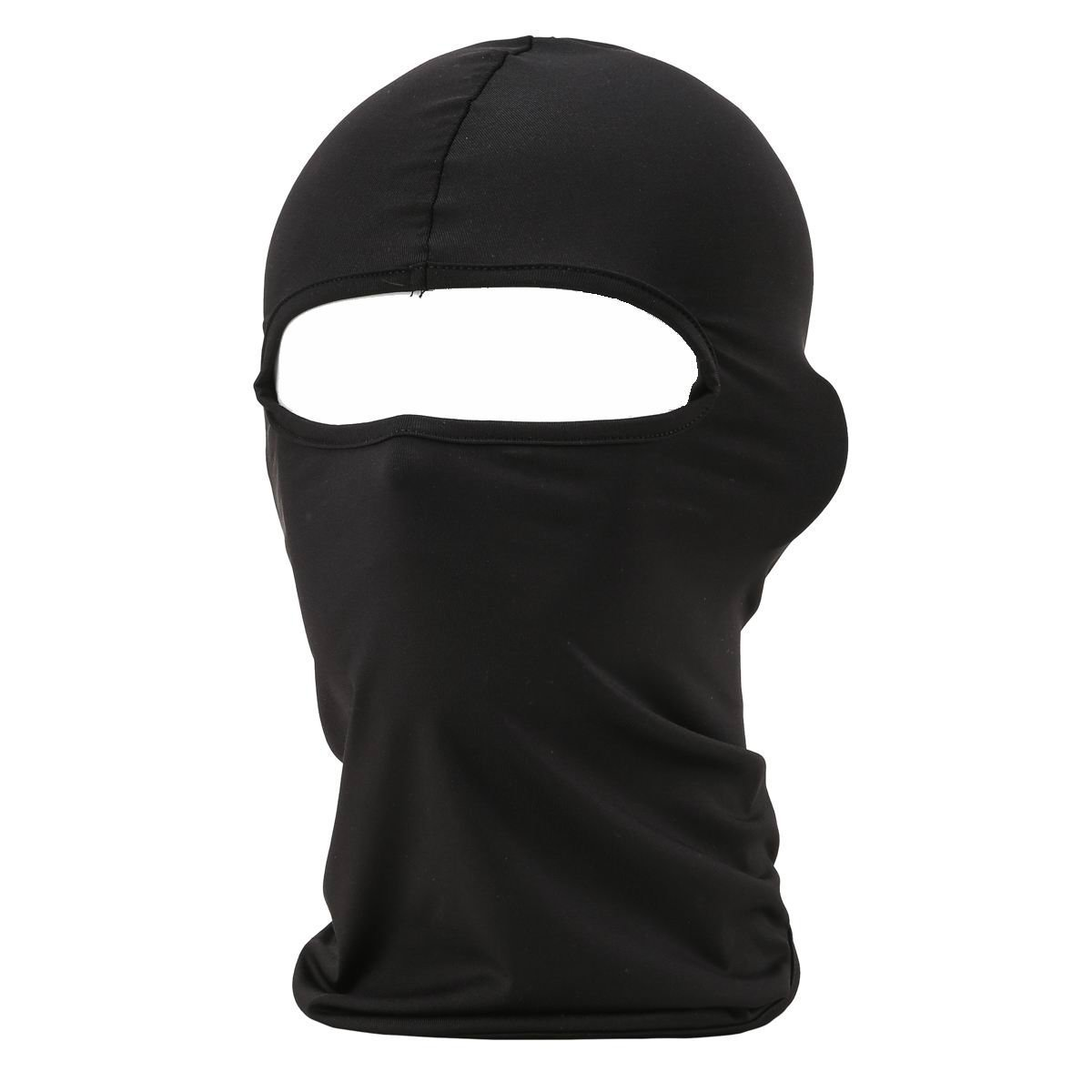 Eavacic Balaclava Tactical Face Mask Hood Neck Gaiter 1 Pack BF-black