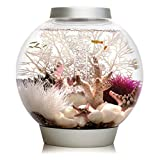 biOrb CLASSIC 15 Aquarium with LED Light – 4 Gallon, Silver