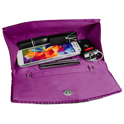 Purses Case Women's Purple Dinner Bag Diamond lady wallet VanGoddy clutch Mildred Girl's Anna Fashion Evening qnw7R