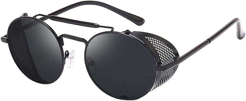 AidShunN Unisex SteamPunk Sunglasses Classic Retro Style Metal Round Goggle