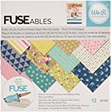 We R Memory Keepers 660861 12 Sheet Fuseables Patterned Paper Pack, 6 x 6""