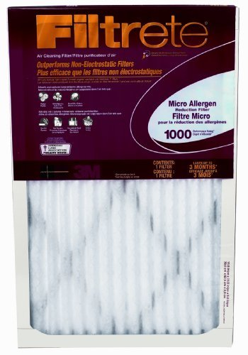 Filtrete Micro Allergen Defense Filter, MPR 1000, 16 x 30 x 1-Inches, 6-Pack by Filtrete