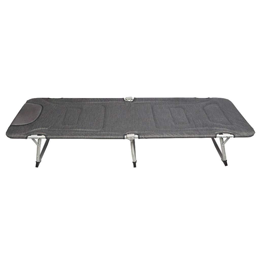 EETYRSD Camping portatif extérieur Simple Sieste lit Pliant lit extérieur Simple Sieste Lit Pliant  -