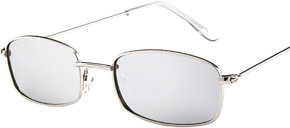 Sallydream Gafas de sol hombre Gafas vintage mujer gafas cuadradas Gafas de sol hombre con montura rectangular peque/ña