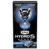 Schick Hydro Sense Hydrate Razors for Men with Shock Absorbent Technology, Includes 1 Razor Handle and 2 Razor Blades Refills