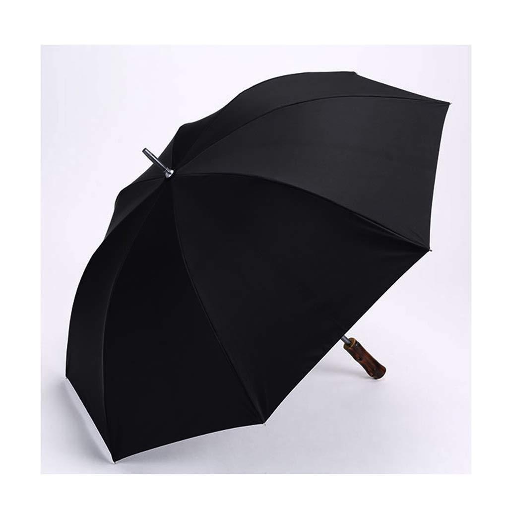 Ombrello Resistente all'Aria Ultraleggero Business Style Uomini e Donne Adulti Lungo Nero Asta Diritta ombrellone (colore   A)