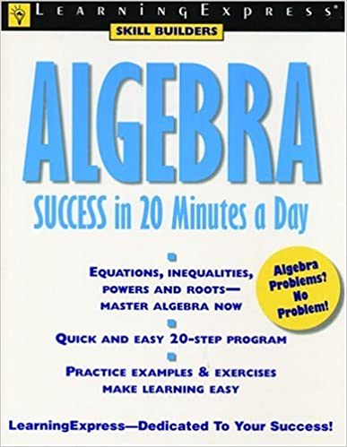 Algebra success in 20 minutes a day learning express skill builders algebra success in 20 minutes a day learning express skill builders learning express editors 9781576852767 amazon books fandeluxe Gallery