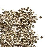 heliltd 100pcs engrosan las uñas de los muebles Vintage Metal decorativo Tack Stud Nails para la decoración de muebles para el hogar (brillante)