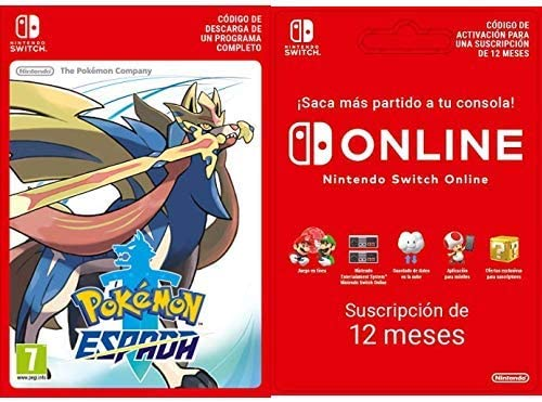 Pokémon Espada [Switch Código de descarga] + Switch Online 12 Meses [Código de descarga]: Amazon.es: Videojuegos