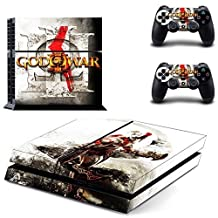 CAN PS4 Console Designer Protective Vinyl Skin Decal Cover for Sony PlayStation 4 & Remote DualShock 4 Wireless Controller Stickers - New God of War