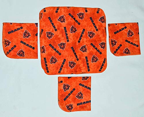 1 Ply 10x10 4 Pack Printed Flannel Washable-BEARS-paperless towels.