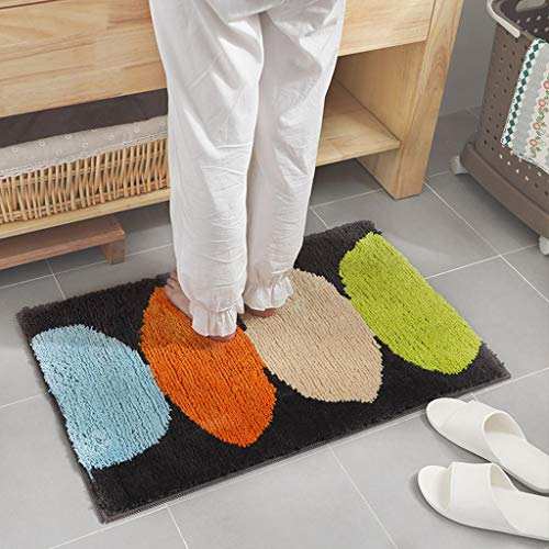 - Clearance Sale!DEESEE(TM)45 * 65cm Super Absorbent Bath Mat Thick Anti-Slip Kitchen Bathroom Floor Rug Doorway Pad (B)