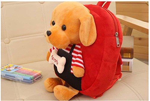 Kinder Rucksack Kindergarten Rucksack Cute Pet Dog Bag (mehrere Farben) Roter Schwarzer Rock gbos7v