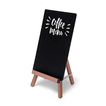 Mesa Pizarra Mini de mydisplays Pizarra - Pequeños Para La Mesa - Puede escribir con rotuladores tiza de color negro, marrón claro o marrón oscuro, ...
