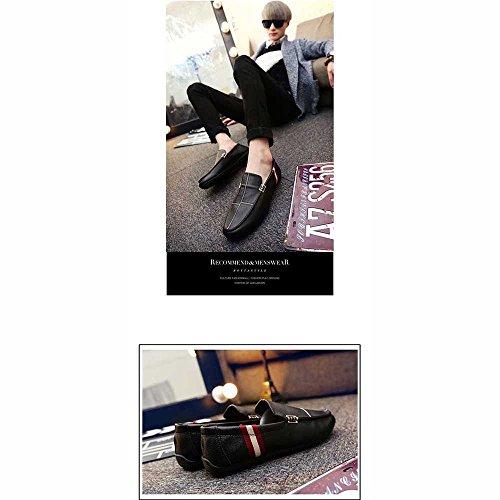 Zapatos Casuales LVZAIXI De Hombres Calzado Guisantes Tamaño De Pedal Zapatos Color Un Hombre Marea EU40 CN41 Negro Zapatos acogedor UK7 Negro Zapatos De r4w4XxIzq